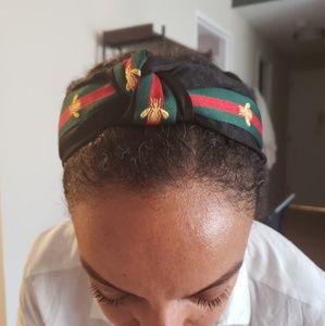 Bumblebee velvet and satin headband